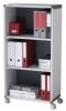 Mobile Aktenordnerregale grau/anthrazit 65,1 x 33 x 61,6 cm