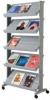 Mobile Prospektständer grau 85,5 x 38,5 x 167,5 cm